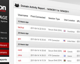Full Activity Report - Select a desired date range and view all sessions and activtiy in that time.